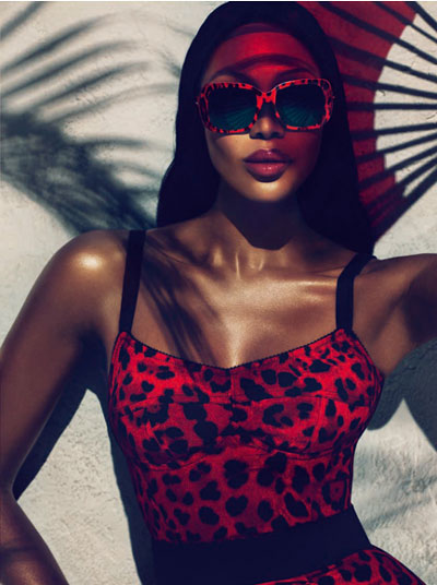 Naomi Campbell for Dolce & Gabbana Animalier ad campaign
