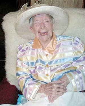 Worlds Oldest Person Eunice Sunborn