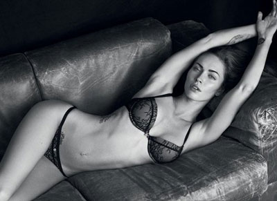 Armani Lingerie Ads with Megan Fox
