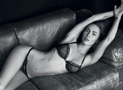 Armani Lingerie Ads with Megan Fox