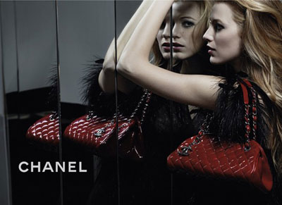 Blake Lively for  Chanel Mademoiselle Handbags