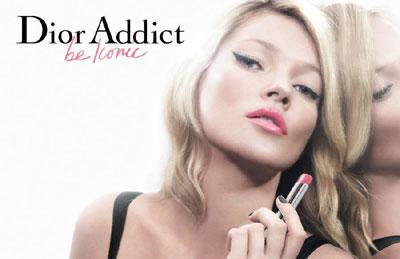 Kate Moss Dior Addict Lipstick ad