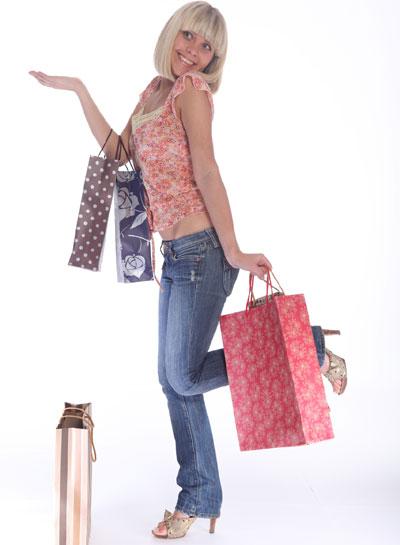 Woman asfter shopping