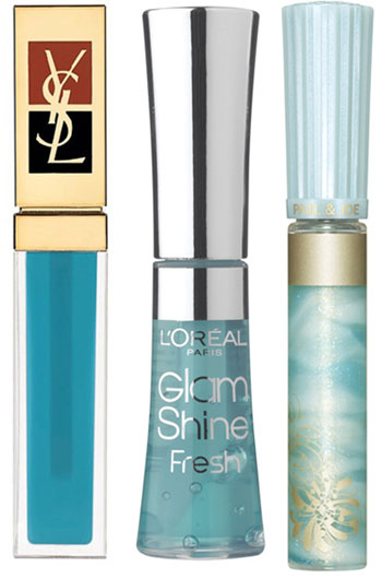 Trendy Blue Lip Gloss