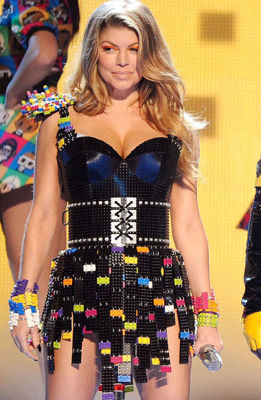 Fergie in Lego Dress at Kid's Choice Awards