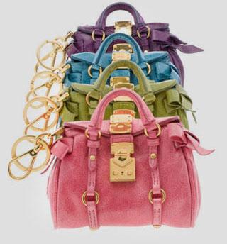 Minibag Charm collection by Miu Miu