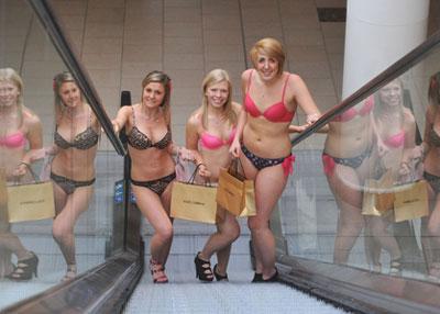 British women shopping