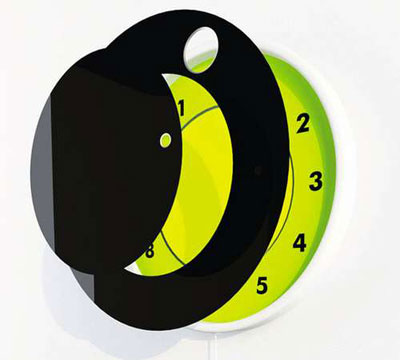 Clock in Saturn Style