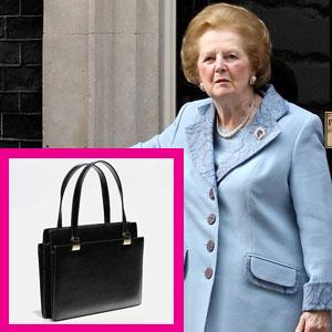 Auctioned Handbag of Margaret Thatcher