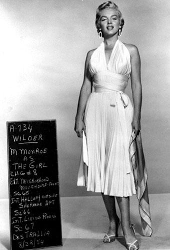 Marilyn Monroe in white dress