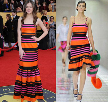 Striped Prada Dress Summer 2011