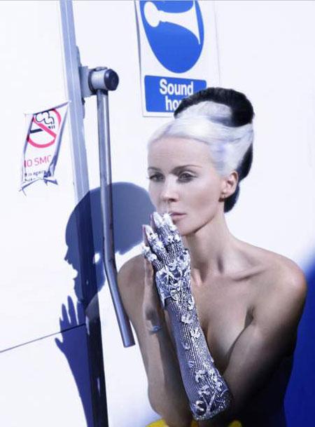 Diamond Studded Glove by Daphne Guinness