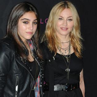 Madonna with daughter Lourdes