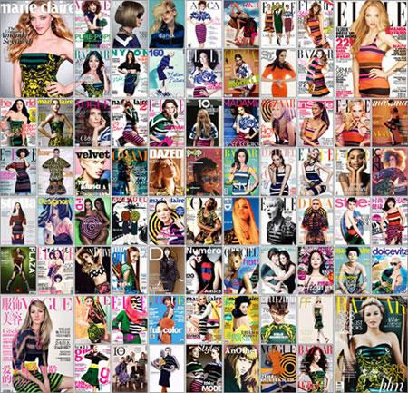 Glossy Magazines Covers: Prada