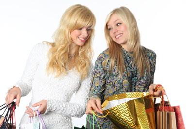 Women during shopping