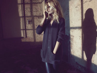 Cashmere clothing by Claudia Schiffer
