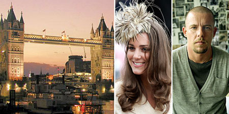 London, Kate Middleton, Alexander McQueen