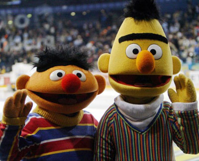 Muppets Bert and Ernie