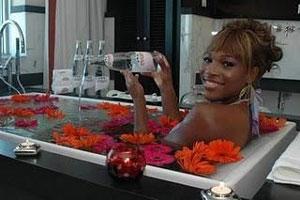 Expensive Beauty Procedures: Evian Bath