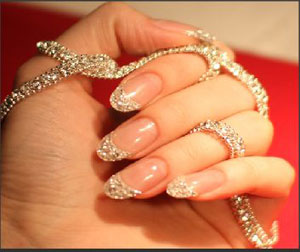 Expensive Beauty Procedures: Iced Manicure