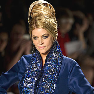 Kirstie Alley as Fashion Show Model