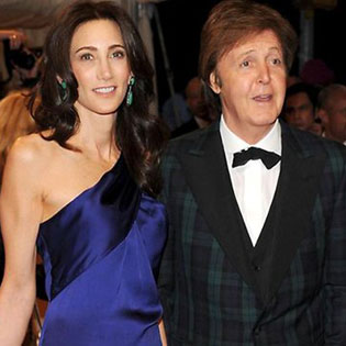Paul McCartney with fiancee