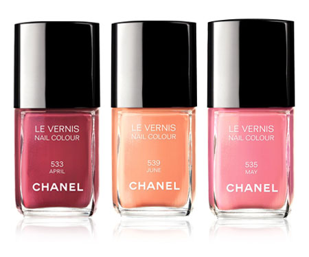 Chanel April, May, June Nail Polish