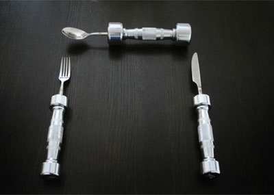 Eat and Be Fit - Dumb-Bell Cutlery collection