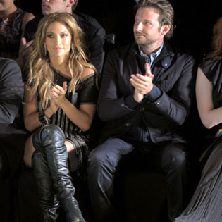 J Lo and Bradley Cooper