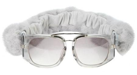 Mink Fur Sunglasses