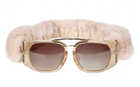 Winter Collection Mink Fur Sunglasses