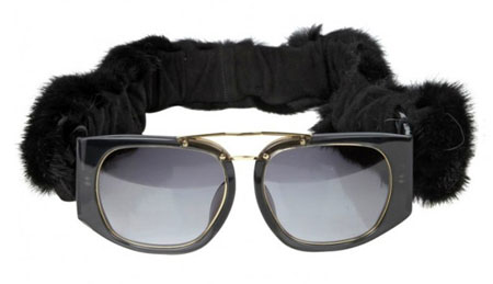 Mink Fur Sunglasses Christmas sunglasses