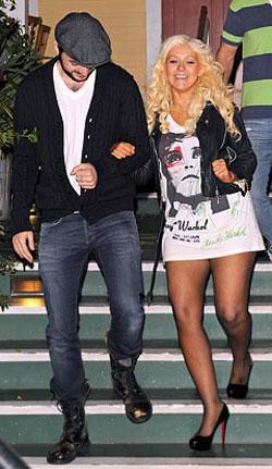Christina Aguilera high heels
