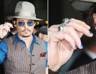 Johnny Depp Blue Nail Polish