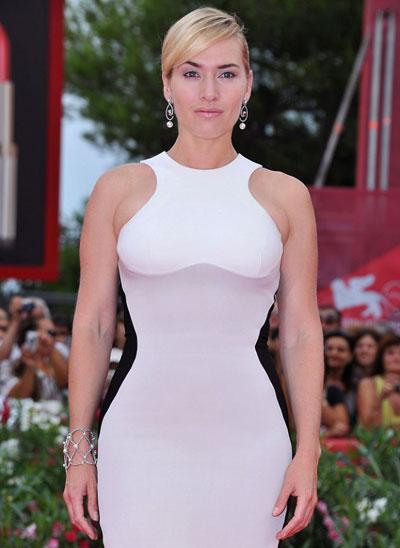 Kate Winslet in Stella McCartney white dress
