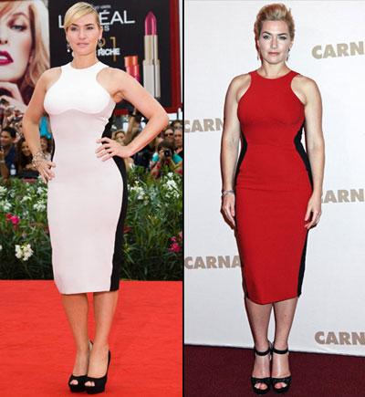 Kate Winslet in Stella McCartney red dress