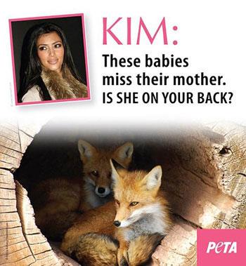 Kim Kardashian wearing fur