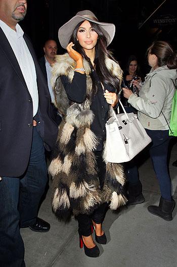 Kim Kardashian fears fur