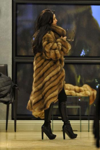 Kim Kardashian fur wardrobe