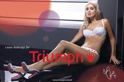 Louise Redknapp - new face of Triumph