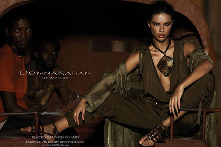 Adriana Lima in Collection by Donna Karan