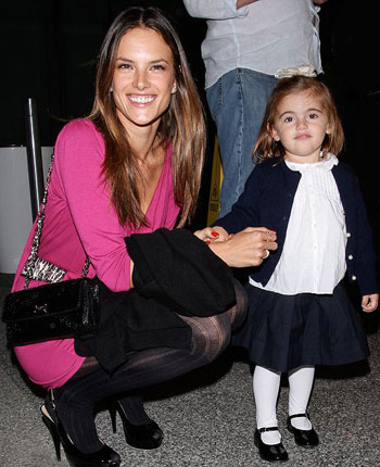 Alessandra Ambrosio with daughter Anna