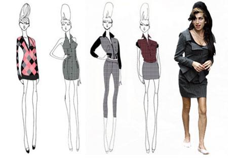 Designing work of Amy Winehouse