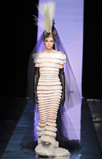 Model Andrej Pejic on fashion show