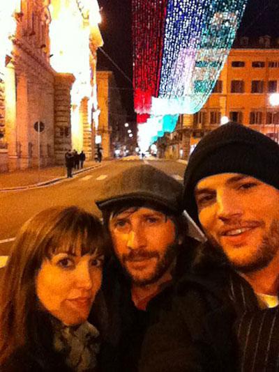 Ashton Kutcher and Lorene Scafaria Christmas