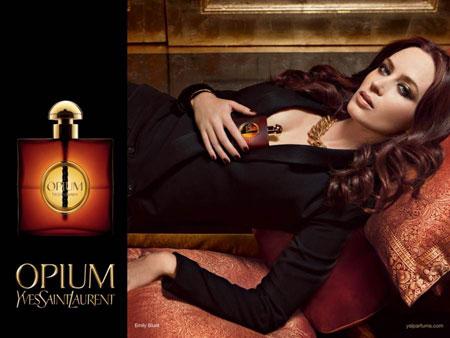 Emily Blunt in Opium Fragrance Ad