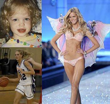 Model Erin Heatherton in the childhood