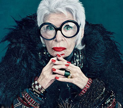Iris Apfel for MAC collection