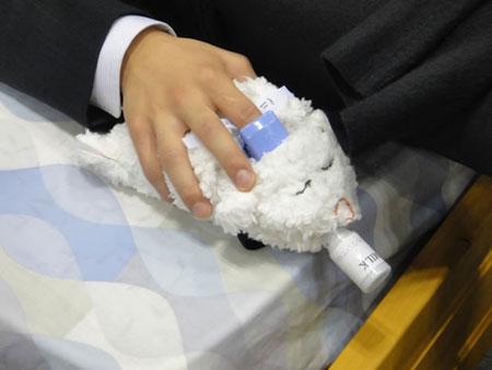 Robot Pillow measures oxygen
