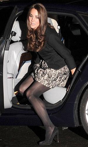 Kate Middleton in mini dress